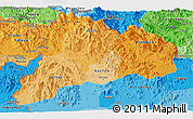 Political Shades Panoramic Map of Kon Tum