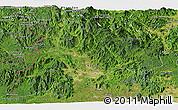 Satellite Panoramic Map of Kon Tum