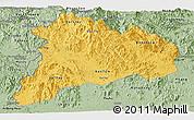 Savanna Style Panoramic Map of Kon Tum