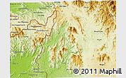 Physical 3D Map of Sa Thay