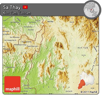 Free Physical Map Of Sa Thay