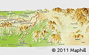 Physical Panoramic Map of Sa Thay