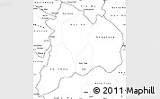 Blank Simple Map of Kon Tum