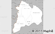 Gray Simple Map of Kon Tum