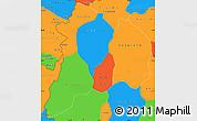 Political Simple Map of Kon Tum