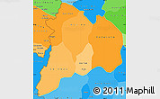 Political Shades Simple Map of Kon Tum