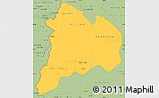 Savanna Style Simple Map of Kon Tum