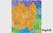 Political Shades 3D Map of Lai Chau