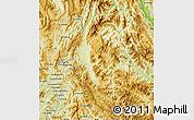 Physical Map of Dien Bien