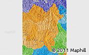 Political Shades Map of Lai Chau