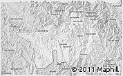 Silver Style 3D Map of Muong Lay