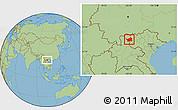 Savanna Style Location Map of Muong Lay