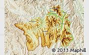 Physical Map of Muong Lay, lighten