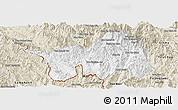 Classic Style Panoramic Map of Muong Lay