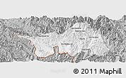 Gray Panoramic Map of Muong Lay