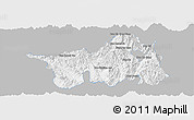 Gray Panoramic Map of Muong Lay, single color outside