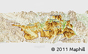 Physical Panoramic Map of Muong Lay, lighten