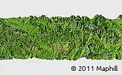 Satellite Panoramic Map of Muong Lay