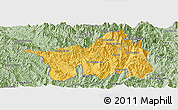 Savanna Style Panoramic Map of Muong Lay
