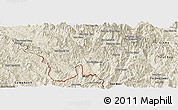 Shaded Relief Panoramic Map of Muong Lay
