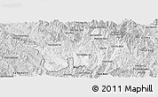 Silver Style Panoramic Map of Muong Lay
