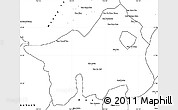 Blank Simple Map of Muong Lay