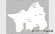 Gray Simple Map of Muong Lay, cropped outside