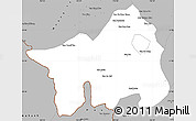 Gray Simple Map of Muong Lay