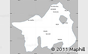 Gray Simple Map of Muong Lay, single color outside