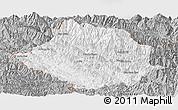 Gray Panoramic Map of Muong Te