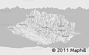 Gray Panoramic Map of Muong Te, single color outside
