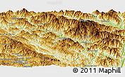 Physical Panoramic Map of Muong Te