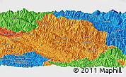 Political Panoramic Map of Muong Te