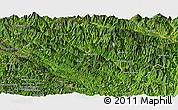 Satellite Panoramic Map of Muong Te