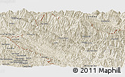 Shaded Relief Panoramic Map of Muong Te