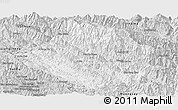 Silver Style Panoramic Map of Muong Te