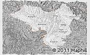 Gray Panoramic Map of Lai Chau