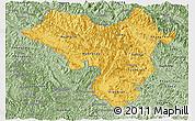 Savanna Style Panoramic Map of Lai Chau