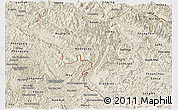 Shaded Relief Panoramic Map of Lai Chau