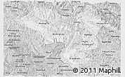 Silver Style Panoramic Map of Lai Chau