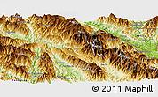 Physical Panoramic Map of Phong Tho