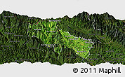 Satellite Panoramic Map of Sin Ho, darken