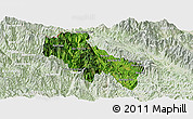 Satellite Panoramic Map of Sin Ho, lighten