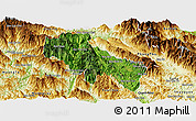 Satellite Panoramic Map of Sin Ho, physical outside
