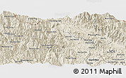 Shaded Relief Panoramic Map of Sin Ho