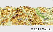 Physical Panoramic Map of Tuan Giao