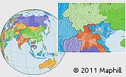 Political Location Map of Tx.Lai Chau
