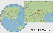 Savanna Style Location Map of Tx.Lai Chau