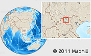 Shaded Relief Location Map of Tx.Lai Chau