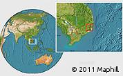 Satellite Location Map of Da Lat Town